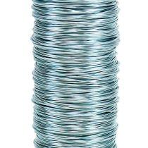 Filo decorativo laccato Ø0,30 mm 30 g / 50 m blu ghiaccio