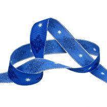 Nastro regalo per la decorazione blu con motivo 25mm 20m