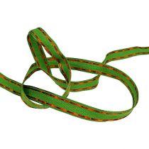 Nastro regalo per la decorazione verde con filo filo 15mm 15m