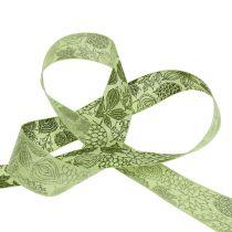 Nastro regalo foglie autunnali 25mm 18m