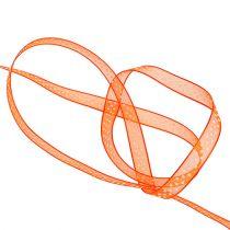 Nastro decorativo arancione con punti 7mm 20m