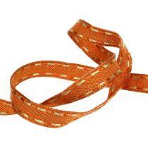 Nastro regalo per la decorazione arancione con filo filo 15mm 15m
