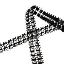 Nastro decorativo nero, argento 10mm 4m