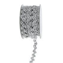 Nastro regalo per la decorazione argento lucido 10mm 9m
