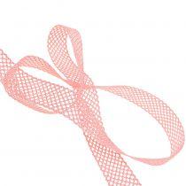 Pizzo Nastro regalo per la decorazione 21mm 20m rosa