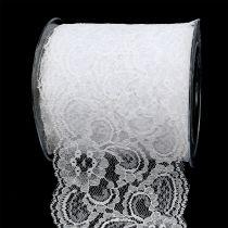 Pizzo Nastro regalo per la decorazione 100mm 10m bianco