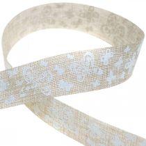 Nastro decorativo con farfalle marrone 25 mm nastro in tessuto nastro regalo 20 m