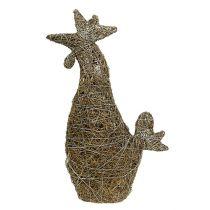 Gallo Figura da decorare dalla natura della vite 45 cm