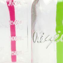 Bottiglie decorative con coperchio e cannuccia H14,5cm