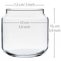 Vetro decorativo, vaso di fiori, lanterna in vetro, decorazione da tavola Ø10cm H10cm 6 pezzi