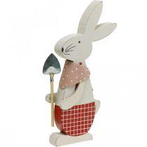 Coniglietto decorativo con pala, coniglietto, decorazione pasquale, coniglietto di legno, coniglietto pasquale