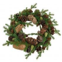 Ghirlanda decorativa in abete con coni verde Ø25cm