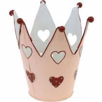Corona decorativa, lanterna in metallo, fioriera per San Valentino, decorazione in metallo con un cuore