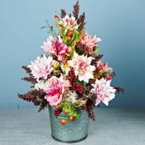Fiore artificiale dalia lilla 63cm