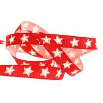 Banda decorativa con motivo a stella rosso 15mm 20m