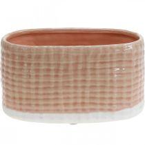 Ciotola decorativa, nave per piantare, fioriera, cesto decorativo in ceramica L21 cm