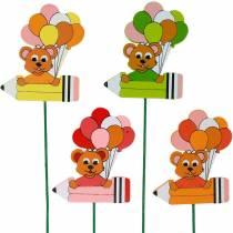 Spina decorativa con orsacchiotto e palloncini spina di fiori decorazione estiva per bambini 16 pezzi
