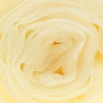 Tessuto decorativo organza crema 150 cm x 300 cm