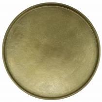 Piatto decorativo argilla Ø30cm oro