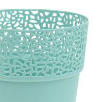 Vaso decorativo in plastica Menta Ø13cm, H13.5cm 1p