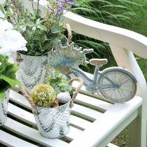 Vaso decorativo in metallo, portavaso con motivo floreale, vaso in metallo per piantare Ø20,5 cm