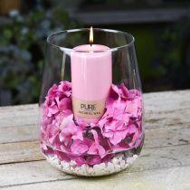 Vaso decorativo, vaso di fiori, vaso di vetro Ø19cm H23cm