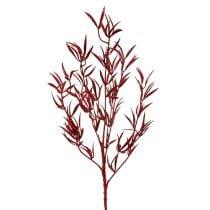 Deco ramo rosso con mica 69cm 2 pezzi
