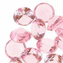 Pietre decorative Diamante Acrilico Rosa chiaro Ø1,8cm 150g Decorazione di tavola
