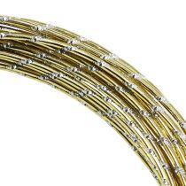 Filo di alluminio diamantato oro 2mm 10m