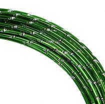 Filo di alluminio diamantato verde mela 2mm 10m