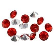 Diamante acrilico 8mm rosso 50g
