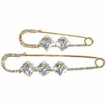 Spilla di sicurezza Gioielli Ago Diamante Oro 2 pezzi