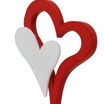 Spina decorativa doppio cuore 28 cm 18 pezzi