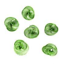 Ruote metalliche Verde mela Ø4,5cm 6 pezzi