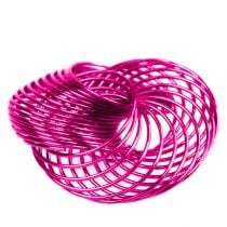 Ruote metalliche Rosa Ø4,5cm 6 pezzi