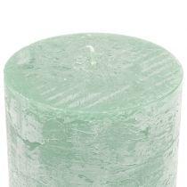 Candele tinta unita verde chiaro 50x100mm 4pz