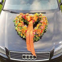 Cuore in schiuma floreale tessuto floreale aperto verde 38 cm 2 pezzi decorazione di nozze
