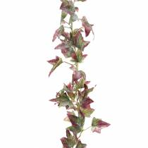 Ghirlanda di edera verde, bordeaux 182,5 cm