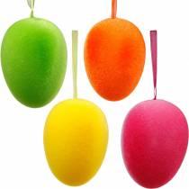 Uova di Pasqua da appendere colorate, uova floccate, Pasqua, decorazioni primaverili 8pz