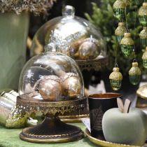 Ciondolo decorativo ghianda, frutti autunnali, decorazioni per alberi di Natale con decorazioni dorate H8cm Ø6cm 4 pezzi