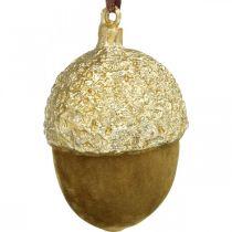 Ghiande da appendere, Avvento, addobbi per l'albero, addobbi autunnali H6.5cm Ø4cm 6pz