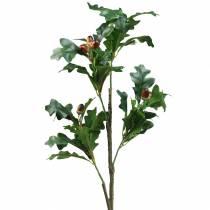 Ramo di foglie di quercia con ghiande artificiali 90 cm