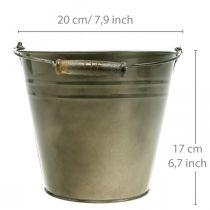 Vaso in metallo, secchio per piantare, fioriera Ø20cm H17cm