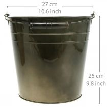 Vaso in metallo, secchio per piante, decorazione in metallo Ø27cm H25cm