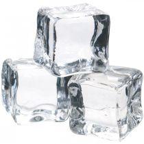Cubetti di ghiaccio decorativi, decorazioni estive, ghiaccio artificiale 3 cm 6 pezzi