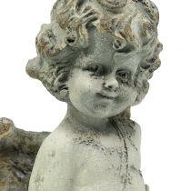 Cupido angelo decorativo con cuore 25 cm 2 pezzi
