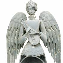 Angelo decorativo in metallo 72 cm