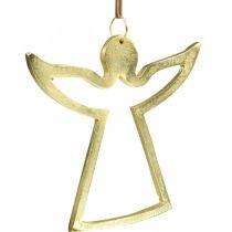 Ciondoli in metallo, angeli decorativi, decoro avvento dorato 15 × 16,5 cm