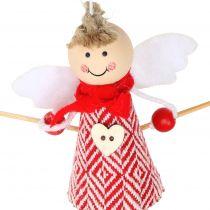 Addobbi natalizie Angelo Rosso, bianco 15 cm 4 pezzi