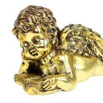 Angelo con libro disteso in oro 11-13 cm 4 pezzi